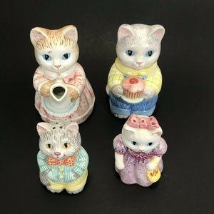 Vintage Avon Country Cat Kitten Sugar Creamer Salt